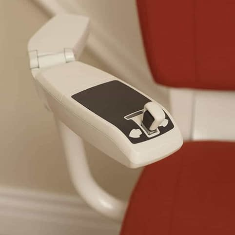 Flow Curved Stairlift from 1st Choice Stairlifts small joystick