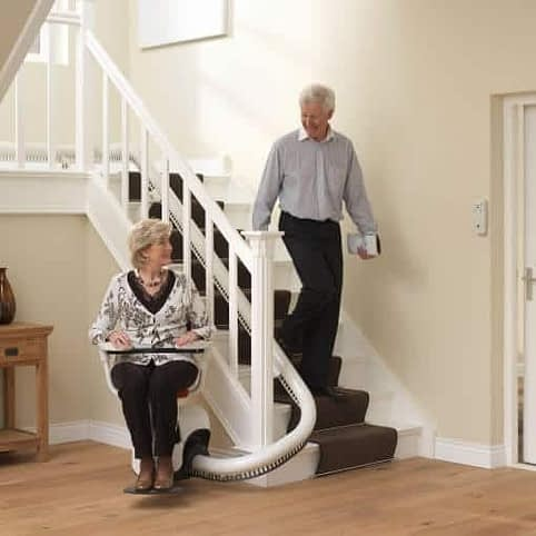 Flow Curved Stairlift from 1st Choice Stairlifts
