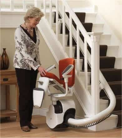 folding up stairlift