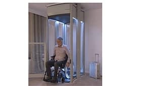 home lift with wheelchair user