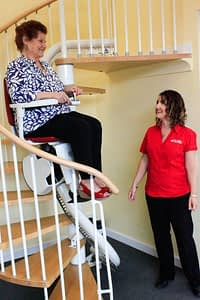 Stairlift on Spiral Stairs