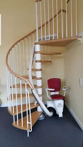 Flow Stairlift on spiral stairs