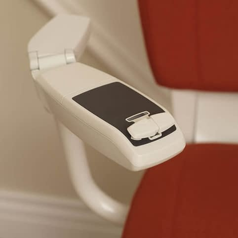 Flow Curved Stairlift from 1st Choice Stairlifts rocker switch