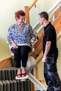 installation and testing a stairlift